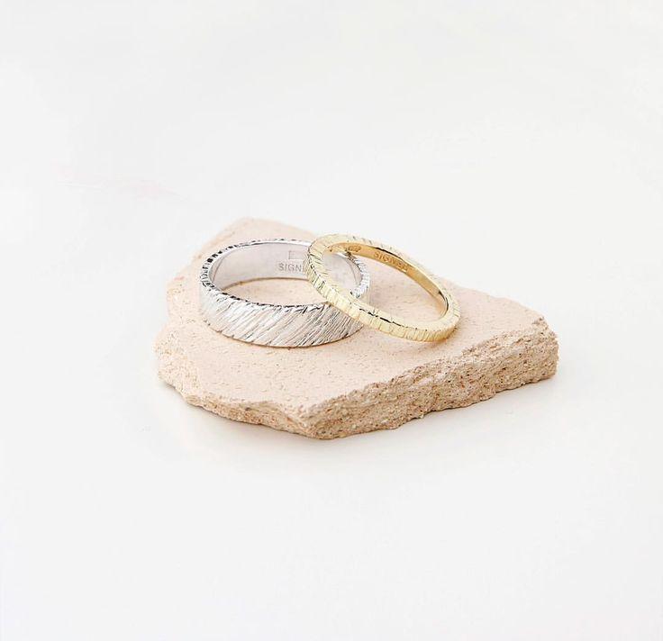 Custom-made wedding rings silver & gold ✨