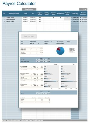 Calculate payroll in your organization using only Microsoft® Excel®.