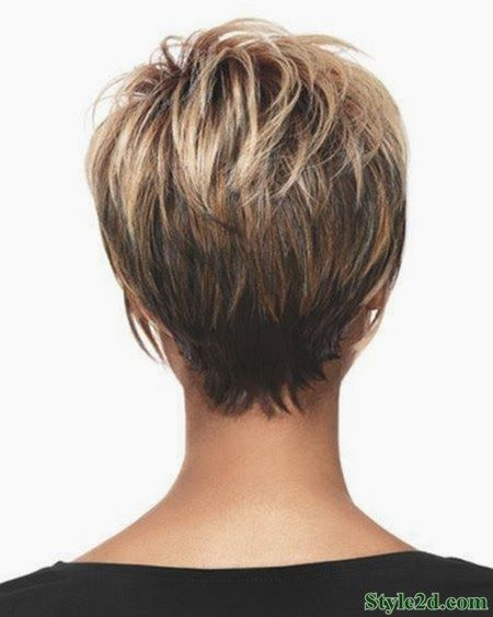 Short Women's Hairstyle- Back View