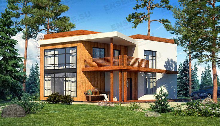 проект дома с эксплуатируемой крышей