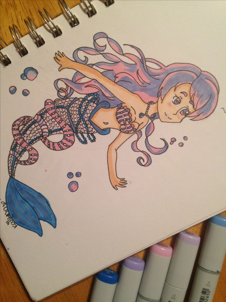 Heyo Im Back Again So I Have Completed The Mermaid Drawing