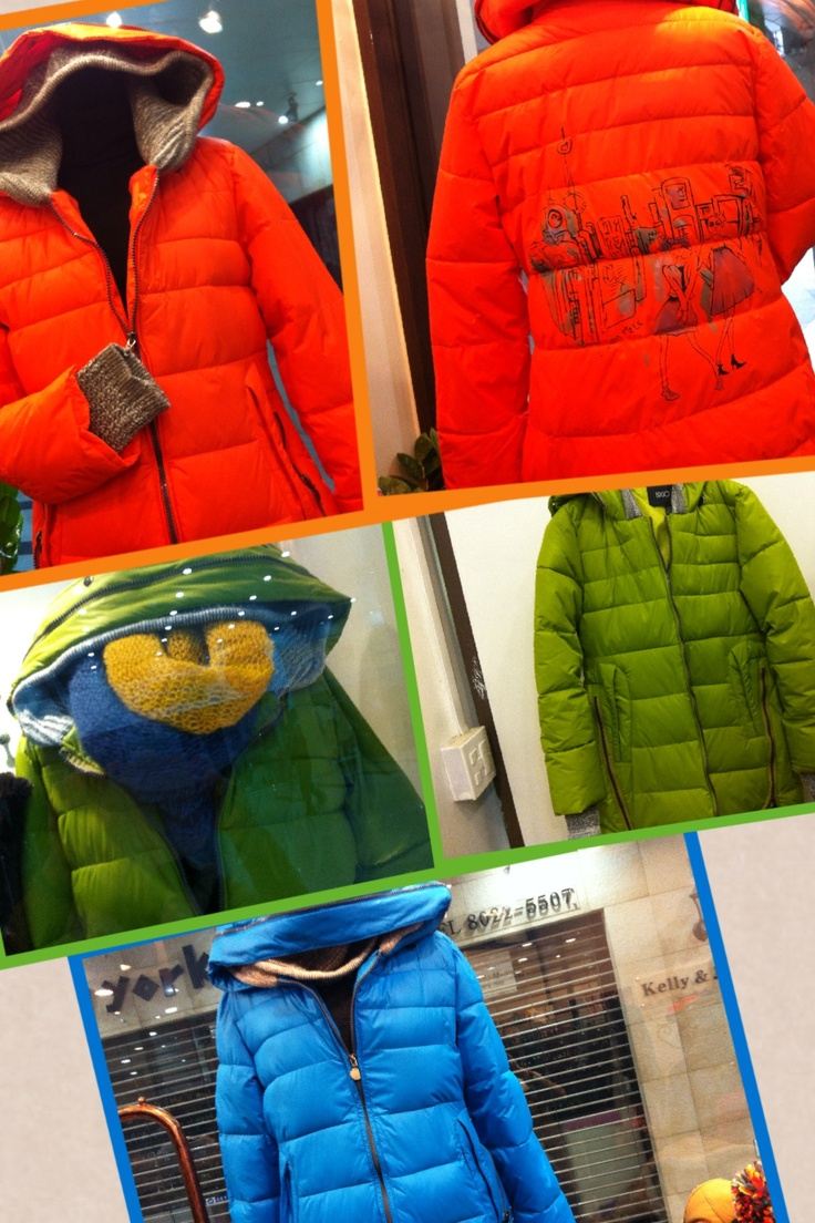 2012 F/W jessica's proposal exit 13 let's enjoy coloful padding jumper: knitting border in sleeves & hood it gives younger image