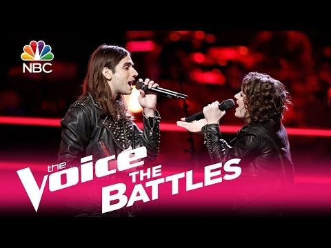 "The Voice 2017 Battle - Johnny Gates vs. Sammie Zonana: ""I Drove All Night"" - YouTube"