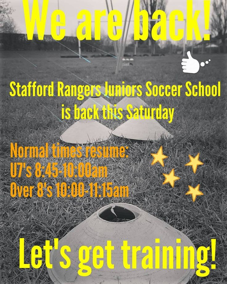 ⚽️��⚽️��⚽️��⚽️��⚽️��⚽️�� WE ARE BACK THIS SATURDAY!  Stafford Rangers Juniors Soccer School is back from the 5th August.  Nornal Saturday times resume. All new players welcome.  For further information contact James Nation- Head Coach at staffordrangersjss@outlook.com  #staffordrangersjss #staffordrangersjuniors #staffordrangersfc #soccerschool #coaching #football #soccer #grassroots #fun #inspirational #weliveforsaturdays http://quotags.net/ipost/1573809300417350251/?code=BXXSzhnlQpr