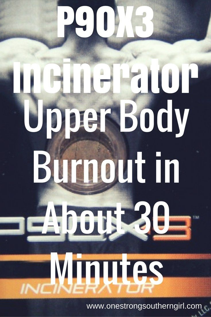 P90X3 Incinerator-Upper Body Burnout in About 30 Minutes-One Strong Southern Girl-This effective workout hits every major upper body muscle group in about 30 minutes. Find out what equipment you'll need here.