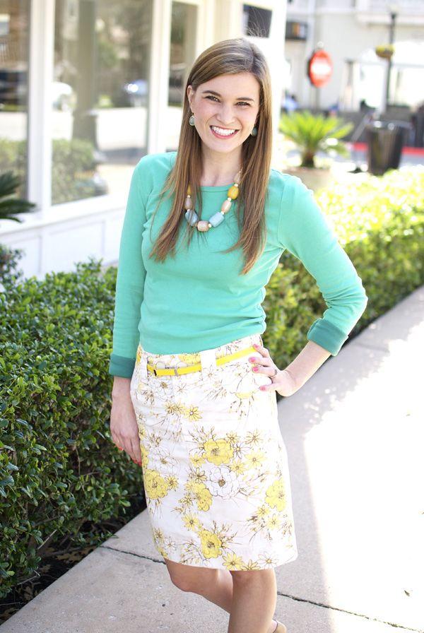 floral skirt:) cute for church:)