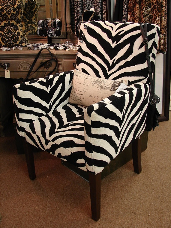 Zebra print chair - $199