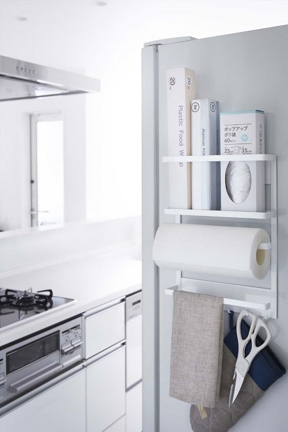 布巾だけじゃない!冷蔵庫の側面収納アイデア | iemo[イエモ]: