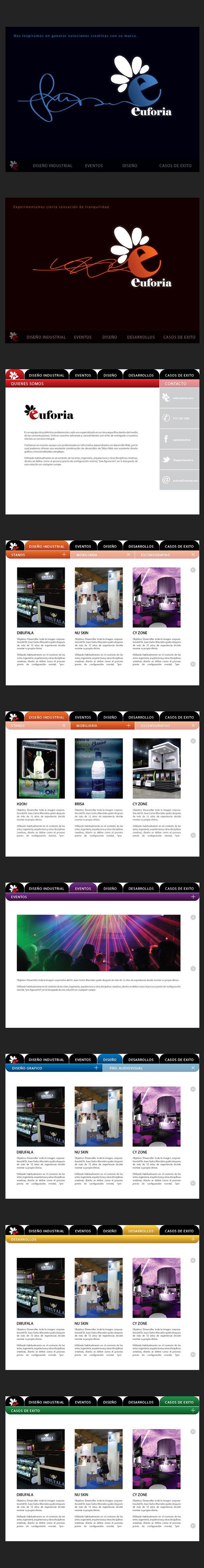 EUFORIA Soluciones Creativas // Propuesta Gráfica del Sitio Web