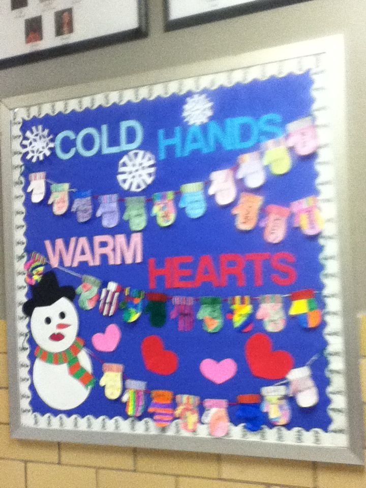 Cold Hands | Warm Hearts This would be cute to have every kid in the center have a mitten that they color