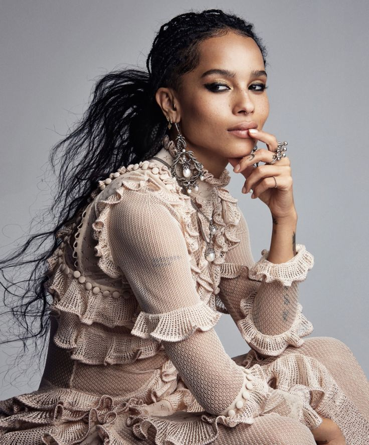 Ear To Ear: Zoe Kravitz by Patrick Demarchelier for Vogue US May 2016