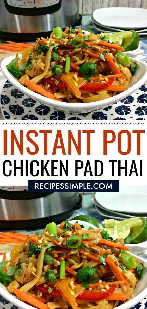 Instant Pot Chicken Pad Thai is Tasty !!!  Just CLICK THE LINK  to SEE THE COMPL…