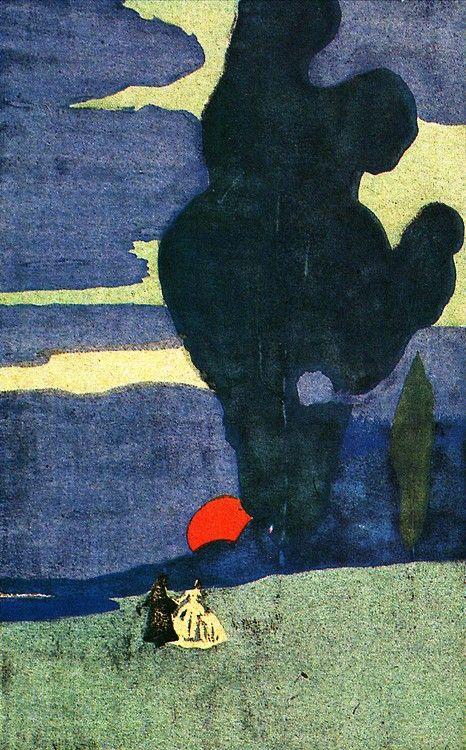 last-picture-show Wassily Kandinsky, Lever de Lune (Moonrise), 1903.