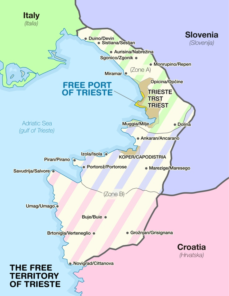 Free Territory of Trieste Map