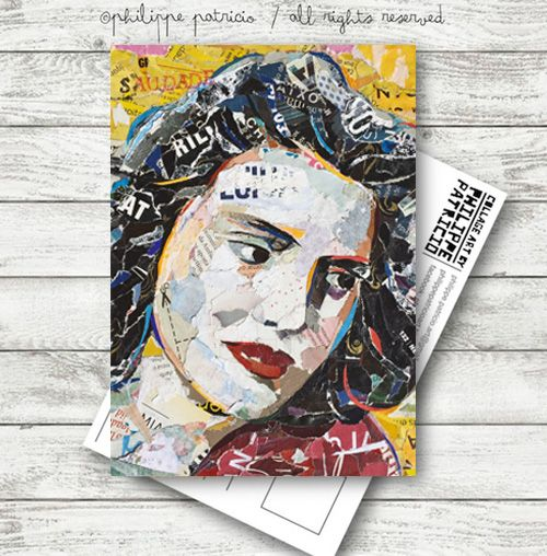 "NEW POSTCARDS SOON! ""AMÁLIA RODRIGUES"" Limited Edition from the original collage artwork  by ©philippe patricio / all rights reserved"