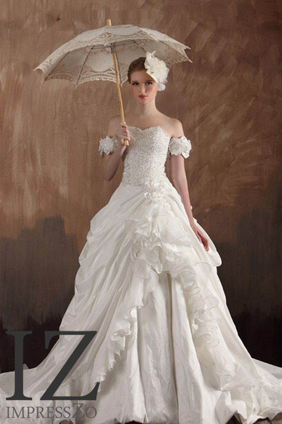Prinsessen trouwjurk bruidsjurk Victoriaans ImpressZo Bruidsmode