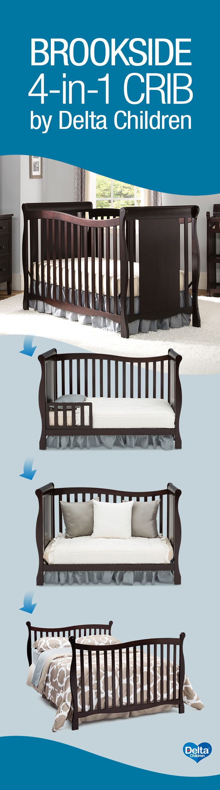 child full in craft coventry convertible size crib