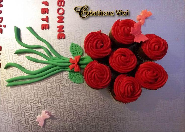 Cupcake bouquet de fleur