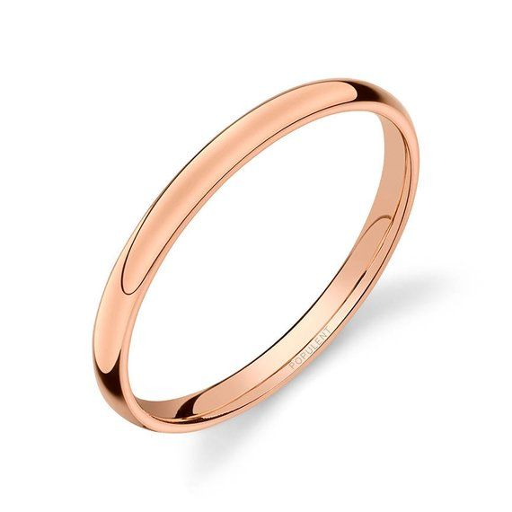 5mm Wide 14k Gold Plated Classic Comfort Fit Wedding Ring Band Size 5-13