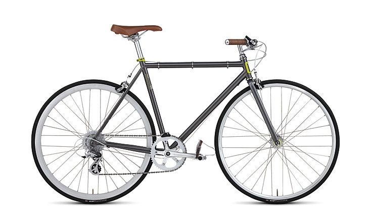 The Roll 8 is a stylish steel bike that can go anywhere. A full range of gears means you won't be able to find a hill too steep, while the classic frame absorbs the shocks, lasts a lifetime, and jumps when you say go