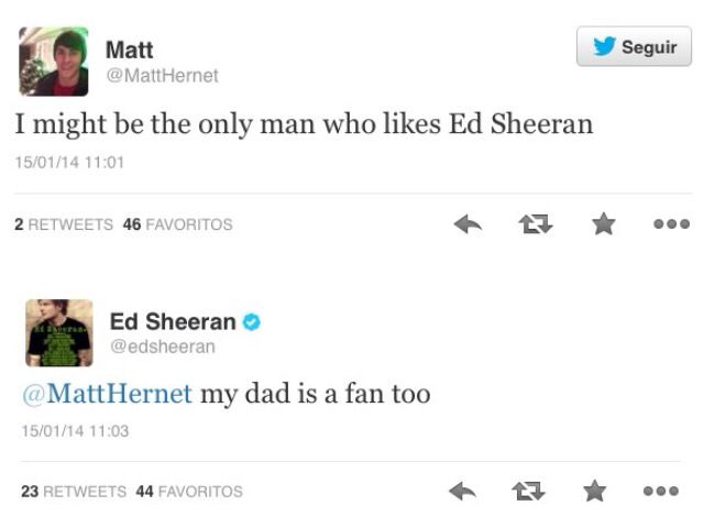and if hes a fan of himself  theres two other men that like him!