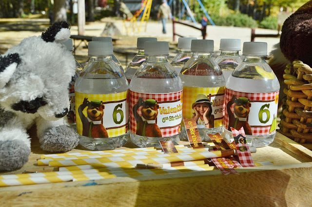 ♣ Etiquetas Yogi Bear - Botellas Agua Personalizadas Oso Yogi