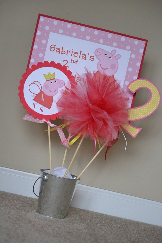 Peppa Pig Centerpiece or Cake Topper Choose by MonicaDawnDesigns, $18.00