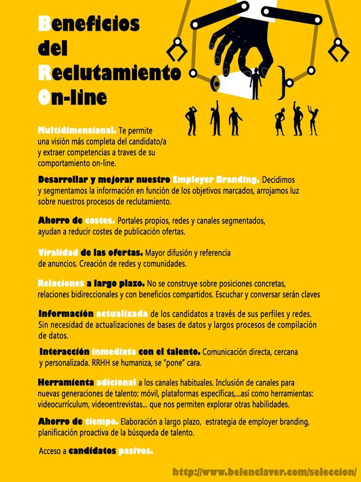 Hola: Una infografía sobre los Beneficios del reclutamiento online. Vía Un saludo