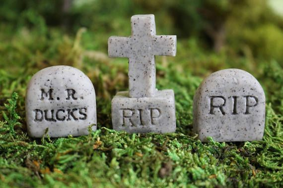 3 miniatura lápidas decoración de Halloween de miniatura