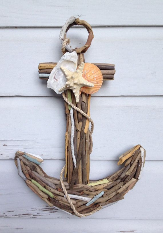 Driftwood Seashell Anchor/Nautical Home by MyHoneypickles on Etsy