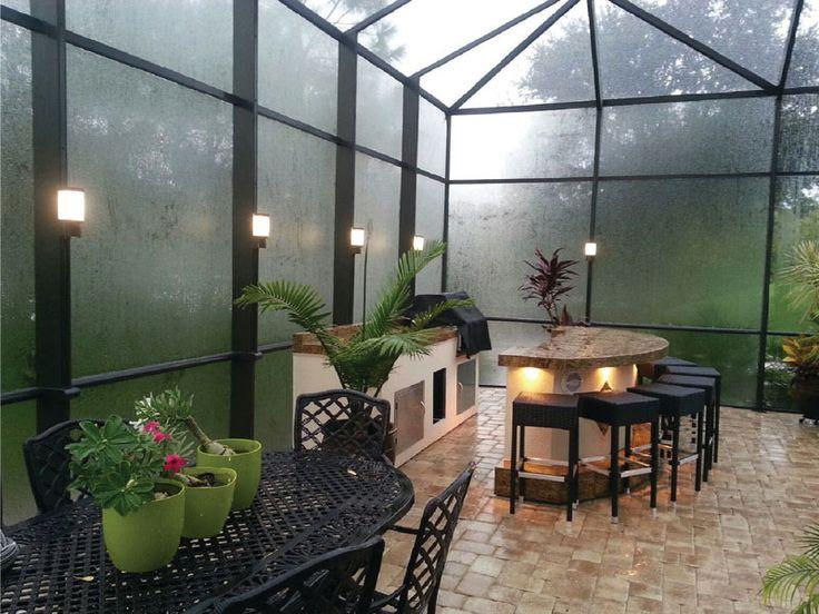 Deck lighting pool enclosure cage lighting by lanai