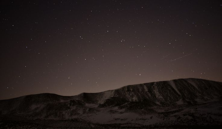 Night time at the Peak District - Castleton.