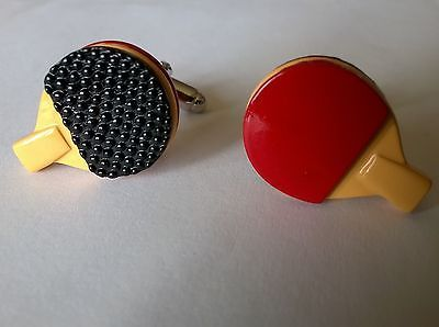 #Table #tennis bat cufflinks (brand new in black velvet gift #pouch) ping pong,  View more on the LINK: 	http://www.zeppy.io/product/gb/2/391218728845/