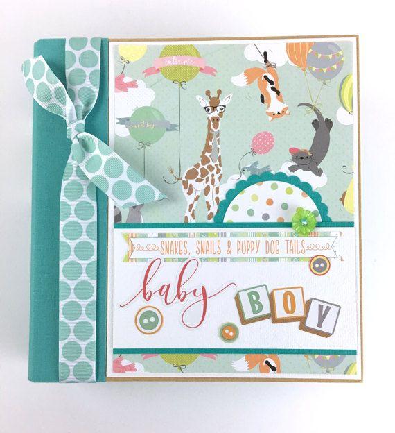 Bebé niño Kit de Mini Album Scrapbook o empacadora regalos recién nacidos