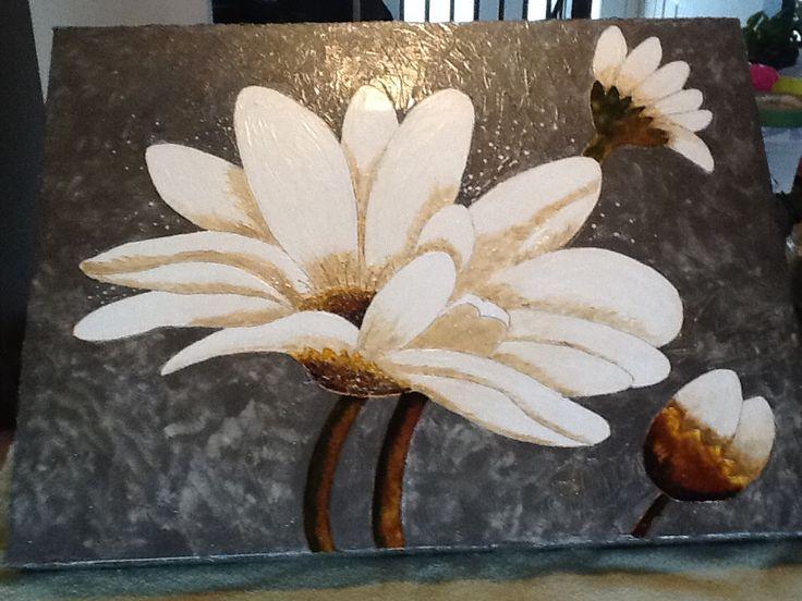 Toile en peinture faux vitrail