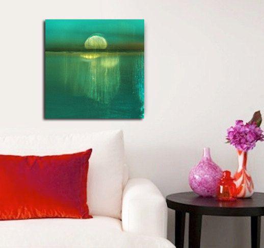 Abstract Moonrise Photo Original Modern Art by FrancesPhotography