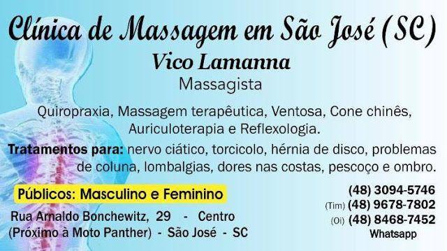 Clínica de Massagem Terapêutica e Quiropraxia em São Jose SC, Massoterapia: Clínica Quiropraxia e Massoterapia - São José SC -...
