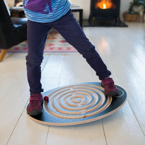 The original Labyrinth Balance Board is a favorite for children, teenagers, and adults. While kids move the wooden marbles (included) through the maze, they will develop coordination, strength, balanc