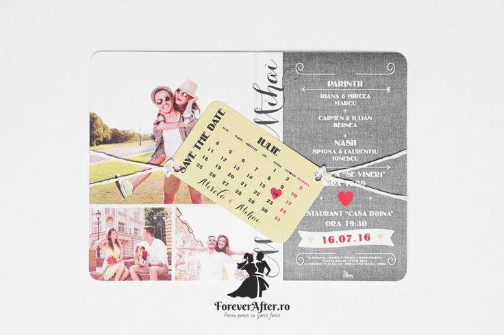 Invitatie de nunta Save The Date | Invitatii de nunta by ForeverAfter.ro