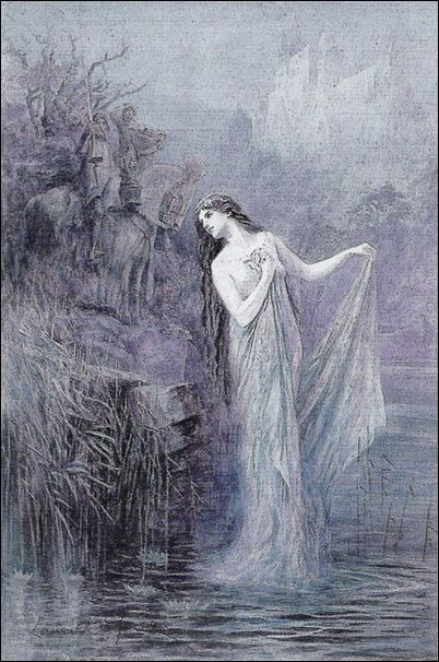 """The Lady of the Lake"" by Lancelot Speed,   from The Legends of King Arthur and His Knights"