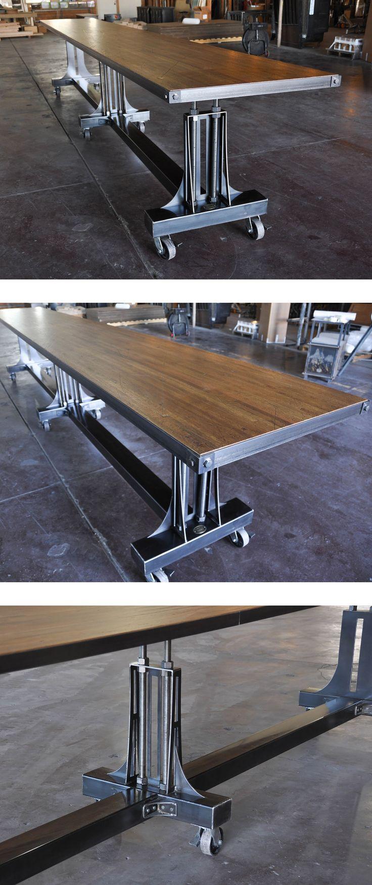 Hure conference table with faux crank vintage industrial furniture - Find This Pin And More On Vintage Industrial Conference Tables Boardroom Design