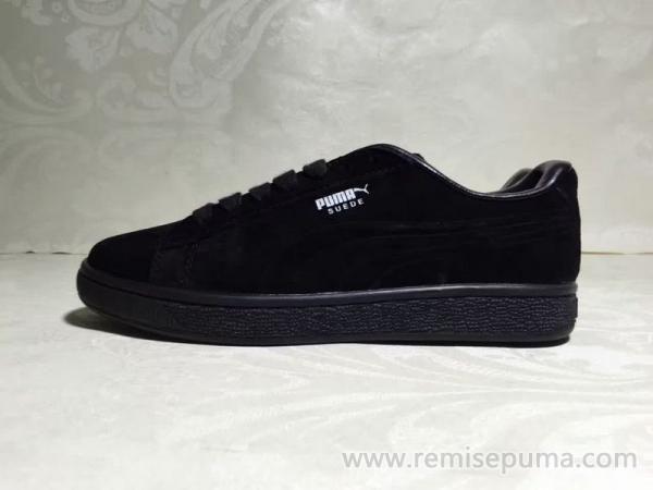 pourquoi de plus en plus de femmes préfèrent Chaussures Puma Femme Rihanna  Suede noir couleur argent