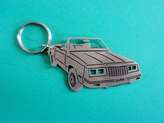 1986 Chrysler LeBaron Turbo Convertable Keychain, Keychain model of your Car, Custom Keychain, Stainless Steel Keychain, Original Gift
