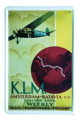 KLM Weekly 20x30 | Blikken borden 20x30 | www.19toen.nl