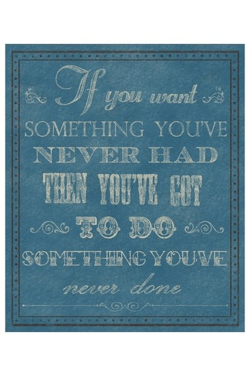 If You Want Something Blue Canvas Wall Art