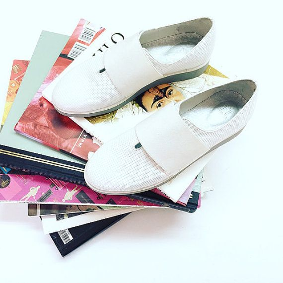 White platform sneakers for women by NormanAndBella