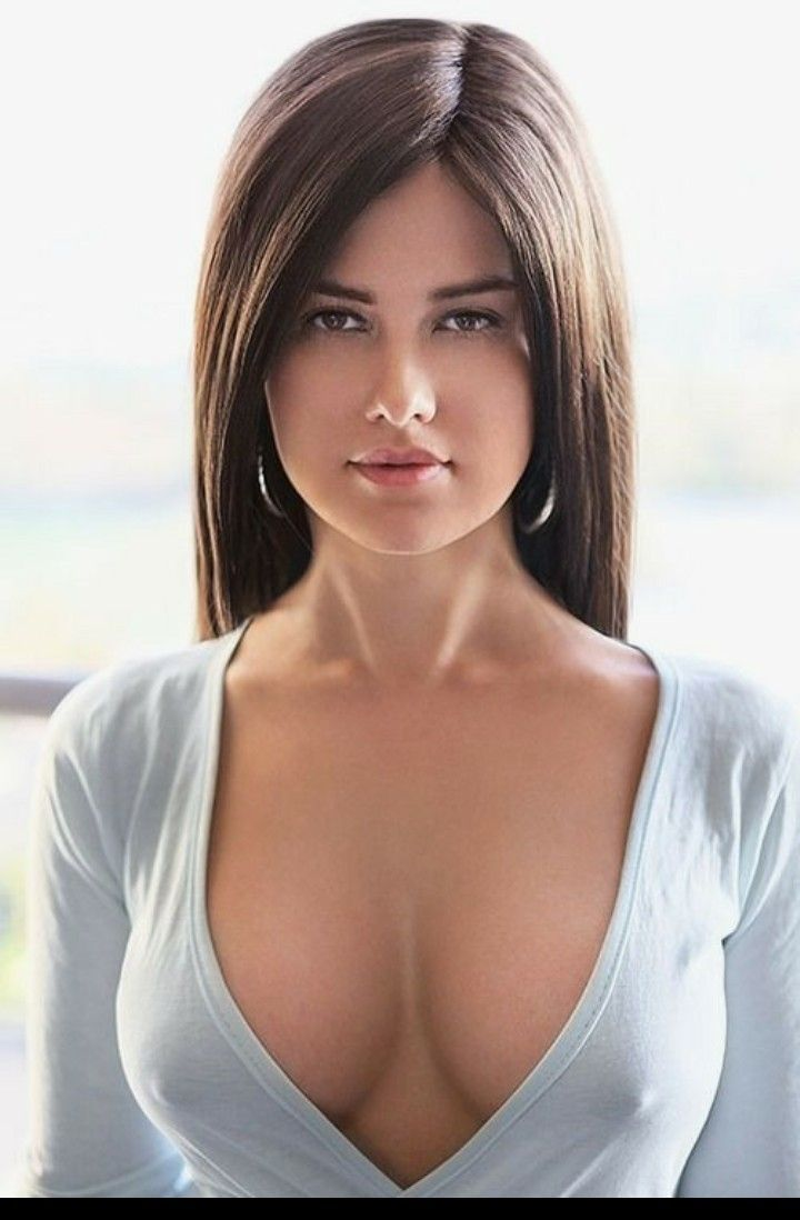 Beautiful Young Brunette With Big Boobs