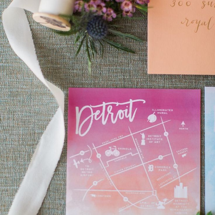 wedding invitations map%0A Custom Detroit map to coordinate with the illuminated mural bit ly ombrewed  Photo  shanellphotographyllc Event Design  mittenweddings   Pinterest    Wedding