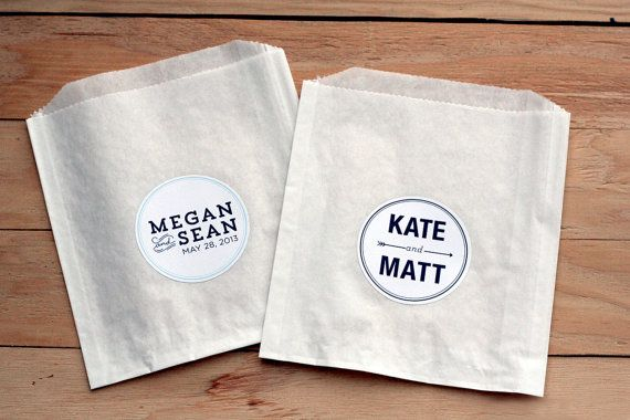 100 Custom Wedding Stickers Favor Bags Birthday By Winkevents
