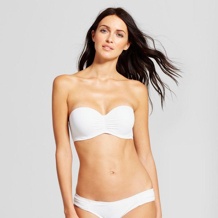 Women's Vacay Light Lift Bandeau Bikini Top - Shade & Shore White 38DD